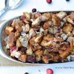 Gluten Free Maitake Mushroom, Pear, and Cranberry Stuffing