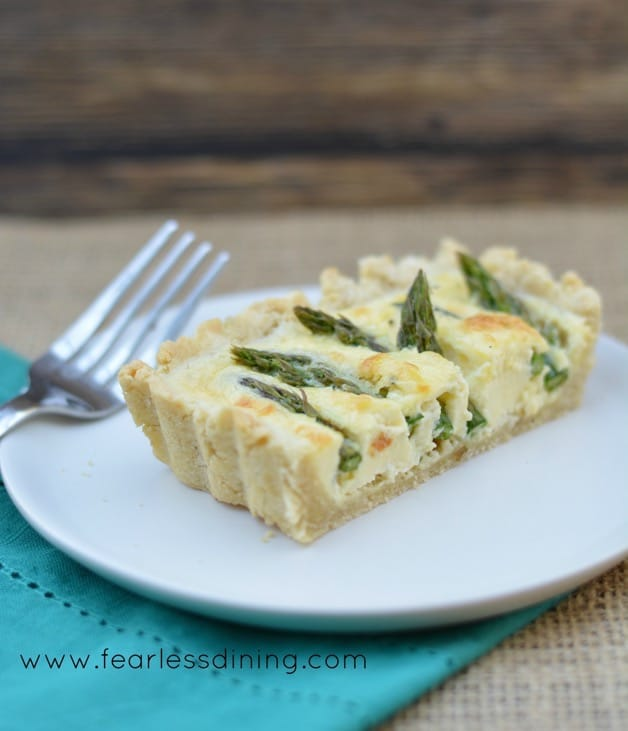 Fearless Dining: Gluten Free Asparagus and Goat Cheese Tart