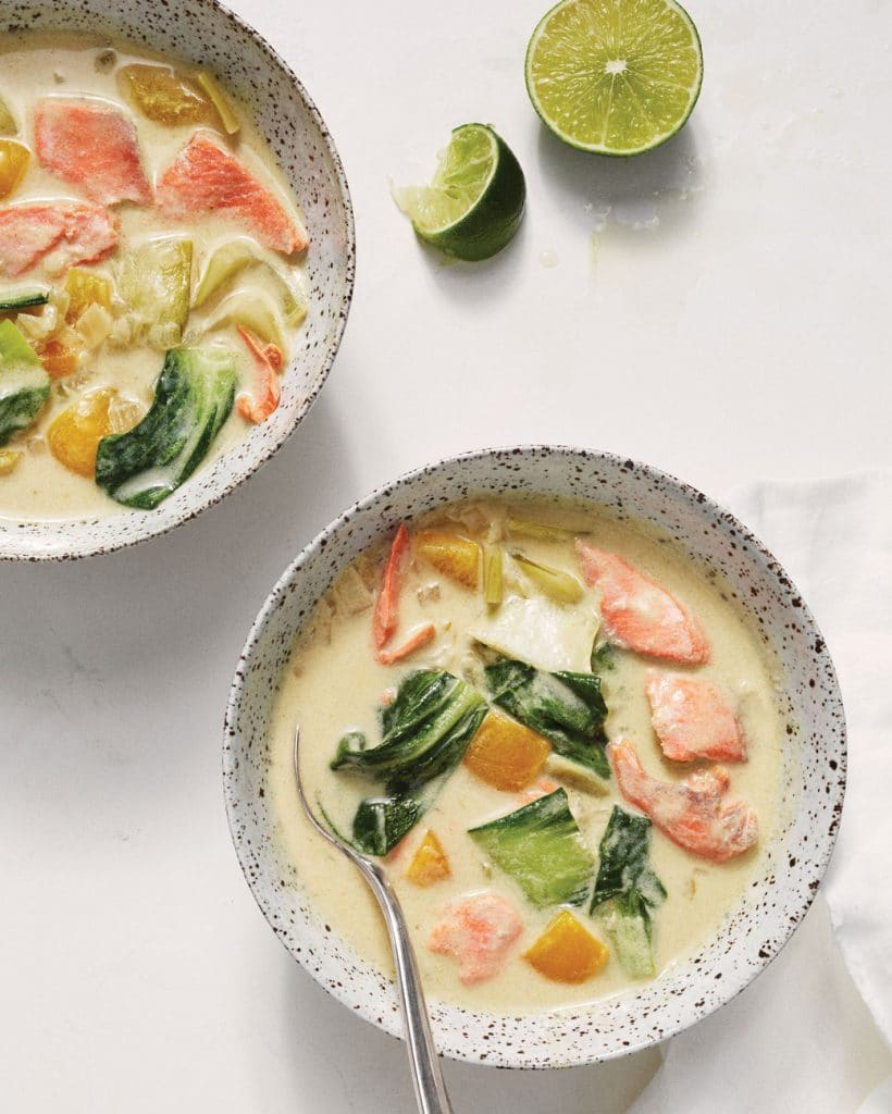spicy coconut salmon curry
