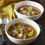 Easy Smokey Lentil Vegetable Soup