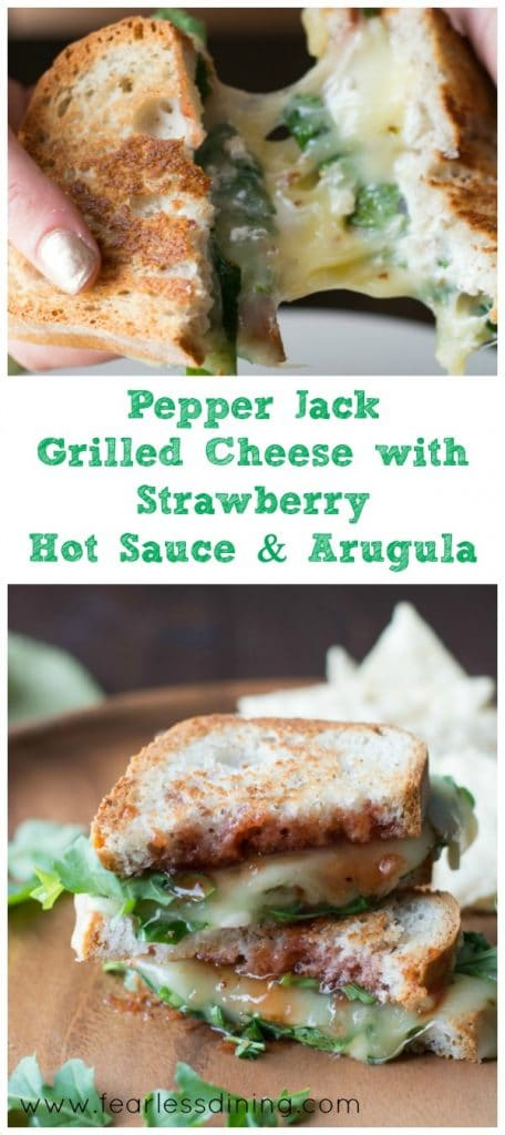 Pepper Jack Grilled Cheese Sandwich with Strawberry Hot Sauce and ...