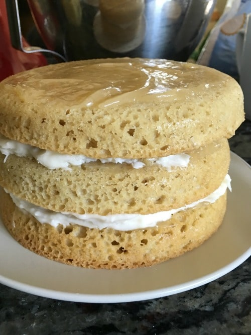Super Easy Gluten Free Lemon Layer Cake - Fearless Dining