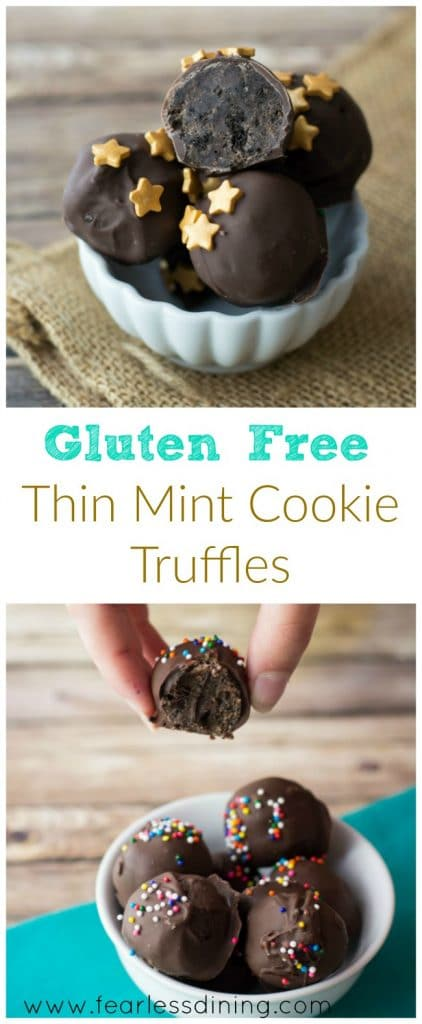 Gluten Free Thin Mint Cookie Truffles are a delicious easy dessert ...