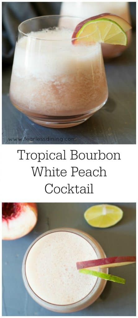 Bourbon Tropical Peach Cocktail Recipe Fearless Dining