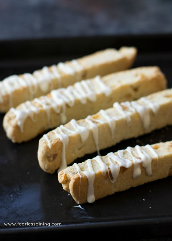 Gluten Free Candied Ginger White Chocolate Biscotti. This biscotti is ...