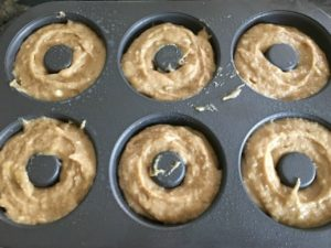 Gluten Free Banana Donuts with Chocolate Coconut Walnut Topping image