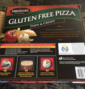 Sabatasso's Gluten Free Pizza