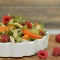 Fennel, Raspberry, and Apricot Salad