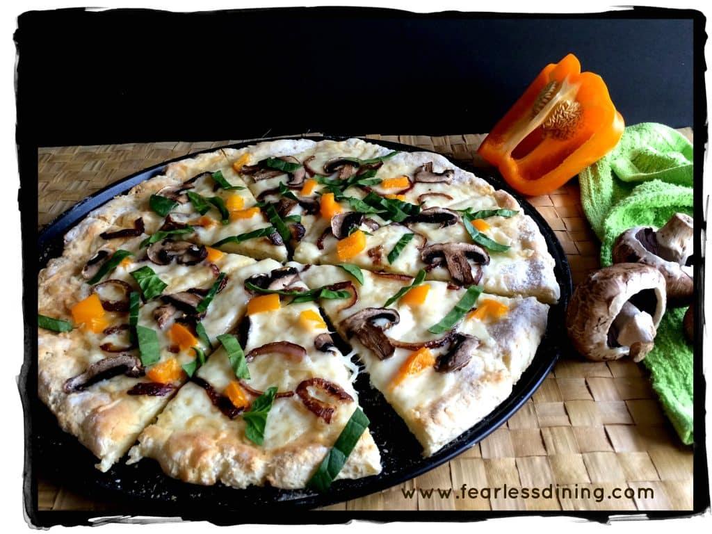 Lungomare's Gluten Free Pizza Crust Recipe https://www.fearlessdining.com #glutenfree #glutenfreepizza #lungomare