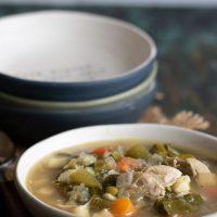 Green Chicken Vegetable Soup Recipe