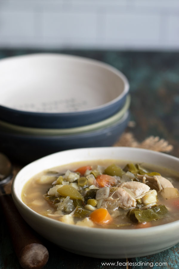 Green Chicken Vegetable Soup Recipe