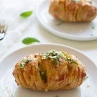 Pizza Stuffed Hasselback Potato Recipe