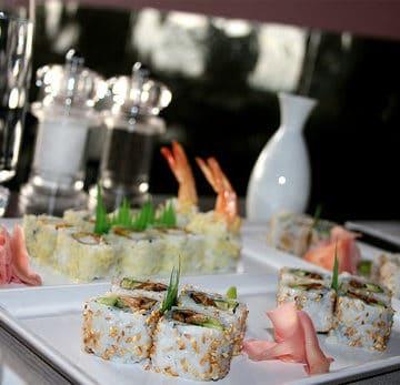 gluten free sushi restaurant table