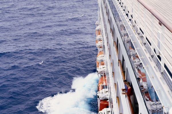 the side of the cruise ship