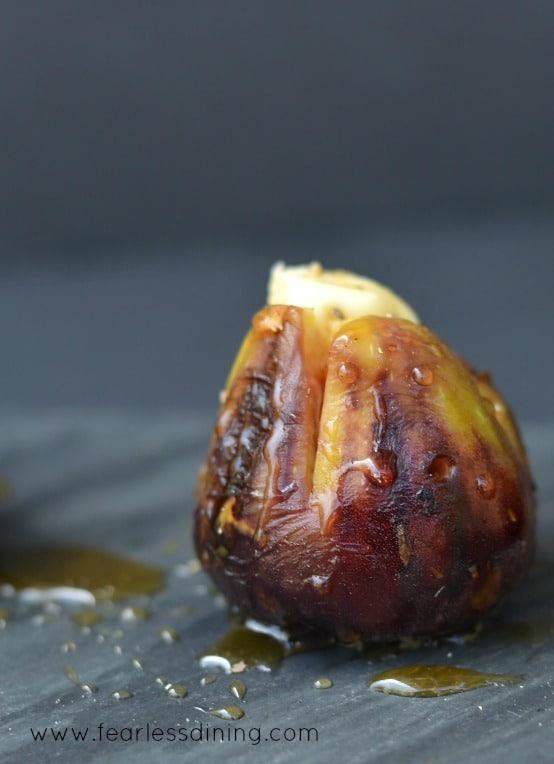 Grilled Brie Stuffed Figs with Honey Drizzle https://www.fearlessdining.com