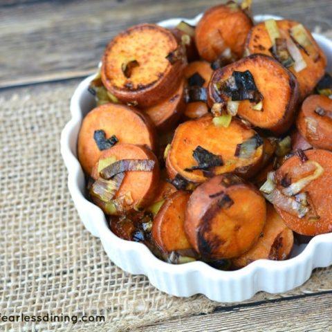 Sweet Potato and Leeks with Honey