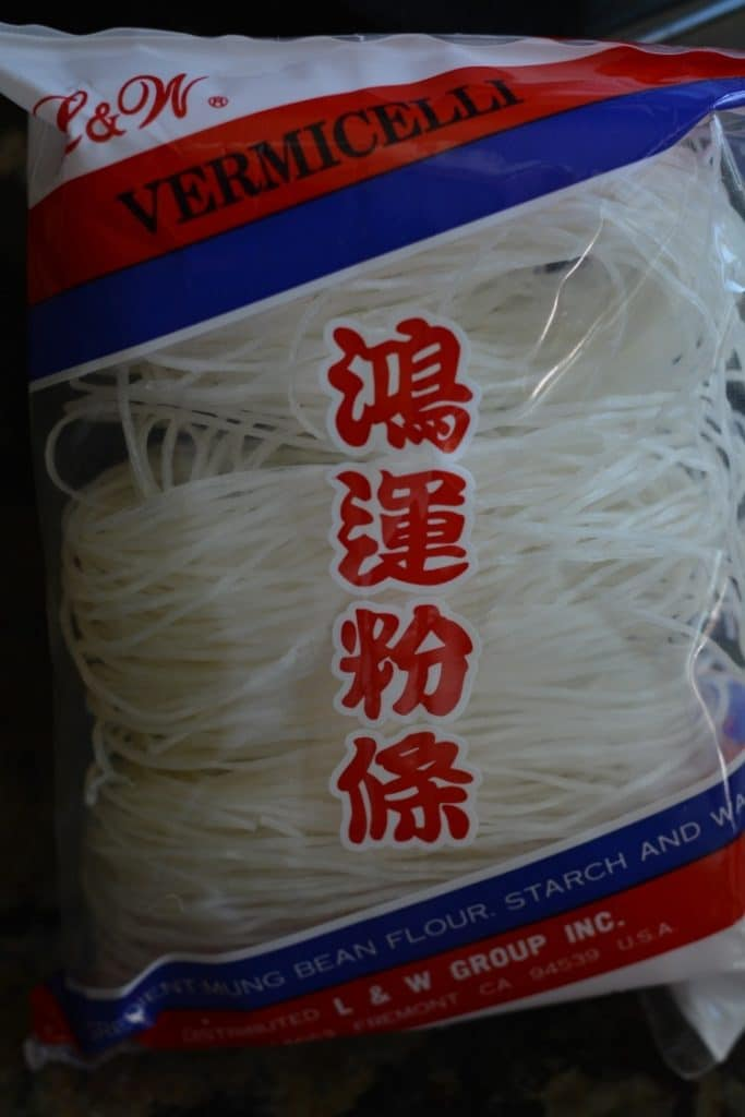 mung bean noodles in a bag