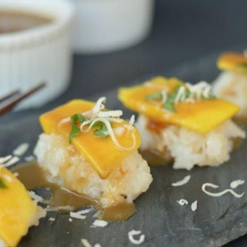 Mango and Coconut Sushi