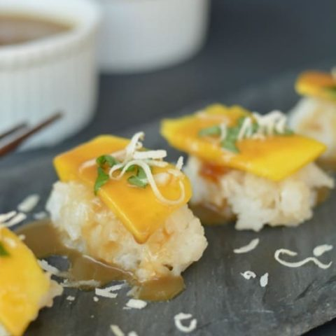 Mango and Coconut Sashimi
