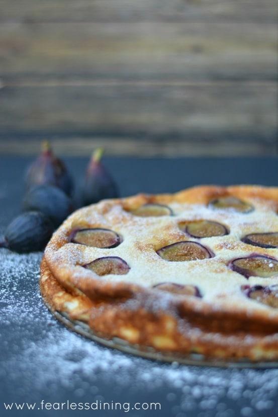 Gluten Free Turkish Fig and Lemon Yogurt Cake on a plate
