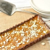 Gluten Free Pumpkin Tart with Dark Rum