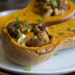 Leftover Stuffing Stuffed Butternut Squash