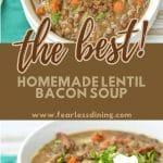 a pinterest collage of soup photos