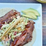 Easy Grilled Barbecue Steak Tacos with Coleslaw image