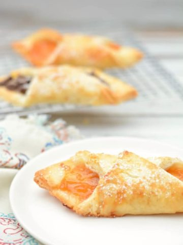 flaky gluten free pastries filled with jam