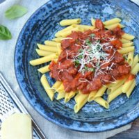 Gluten Free Pasta Sauce Recipe with 3 Meats
