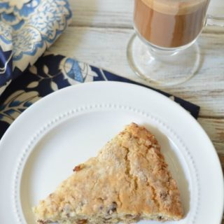 date scones on a plate