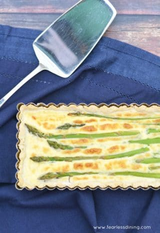Gluten Free Savory Asparagus and Goat Cheese Tart image