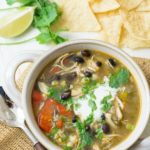 If you love soup, this spicy Mexican taco chicken soup is both delicious and healthy. Quick and easy to make, it is the perfect one pot meal. This gluten free taco soup with chicken is kid-approved.