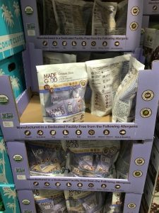 Gluten-Free Costco box of kid snacks by Made Good
