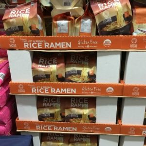 Gluten-Free Costco shelf with Rice Ramen soup mix