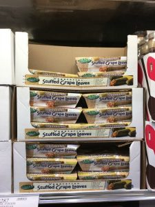 Gluten-Free Costco containers of stuffed grape leaves