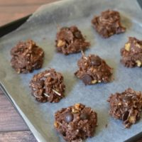 Gluten-Free No-Bake Brownie Bite Cookies