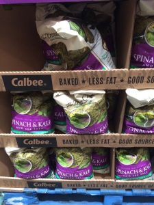 Gluten-Free Costco bags of Calbee Spinach and Kale Tortilla Chips