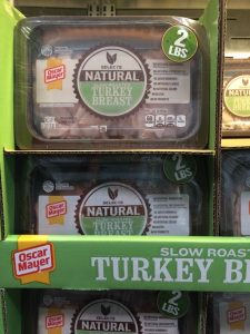 Gluten-Free Costco containers of Oscar Mayer natural turkey deli meat
