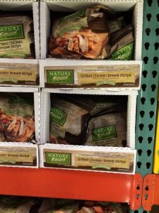 Gluten-Free Costco Bags of Nature Raised Grilled Chicken Breast Strips in the frozen section