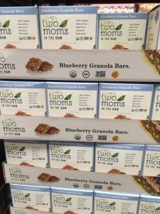 Gluten-Free Costco boxes of Two Mom's Blueberry Granola Bars