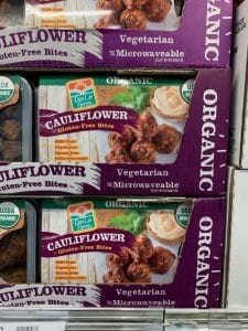 organic cauliflower bites at Costco