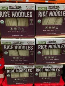 Manitou Rice Noodles on the shelf at Costco