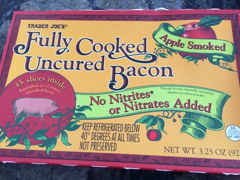Trader Joe's Bacon in a box