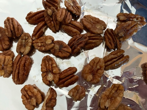 pecans ready to bake