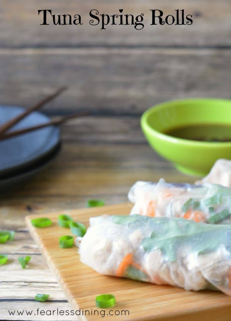 Tuna Spring Rolls are easy to make. Just pick your favorite fillings. https://www.fearlessdining.com
