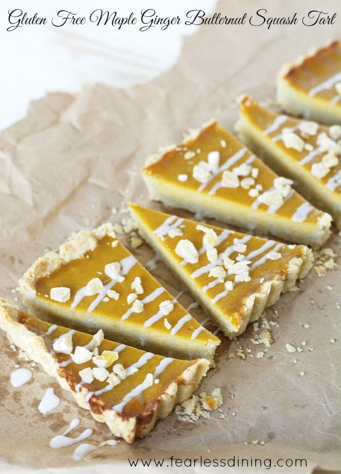 Gluten Free Maple Butternut Squash Tart found at http://www.fearlessdining.com