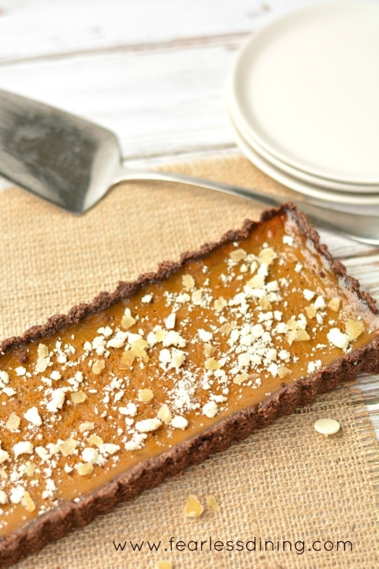Gluten Free Ginger Pumpkin Tart with Dark Rum
