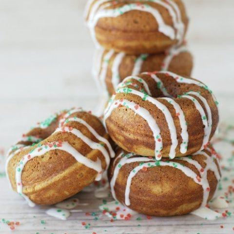 Gluten Free Gingerbread Donuts