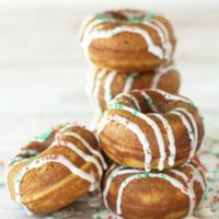 Gluten Free Gingerbread Christmas Donuts